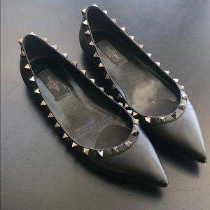 Valentino black flats 38.5
